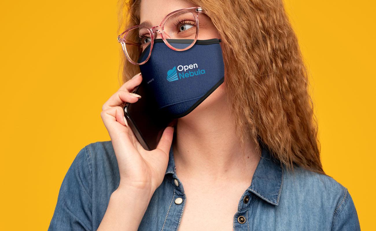 Denim - Znakowane maski ochronne na twarz