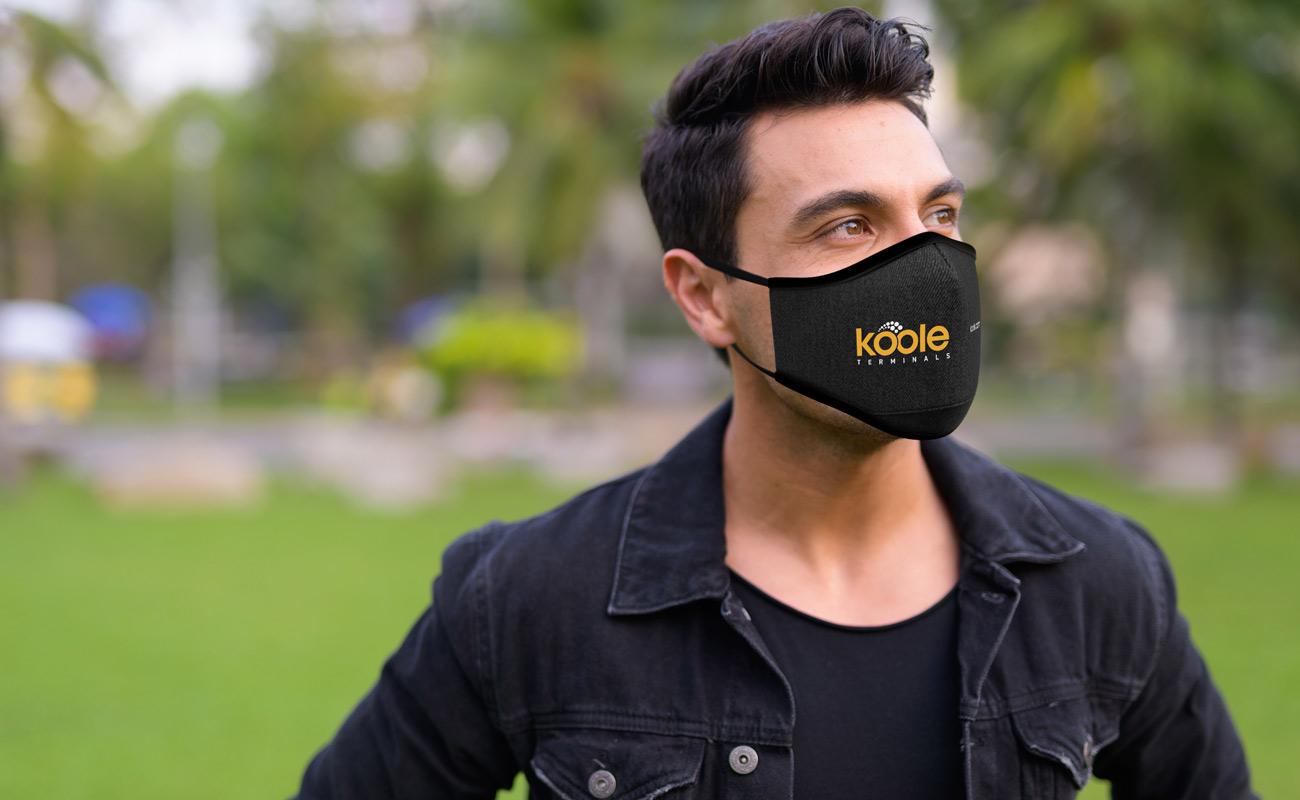 Denim - Znakowane maski na twarz do wielokrotnego użytku