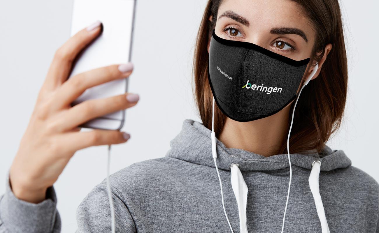 Denim - Spersonalizowane maski na twarz do wielokrotnego użytku