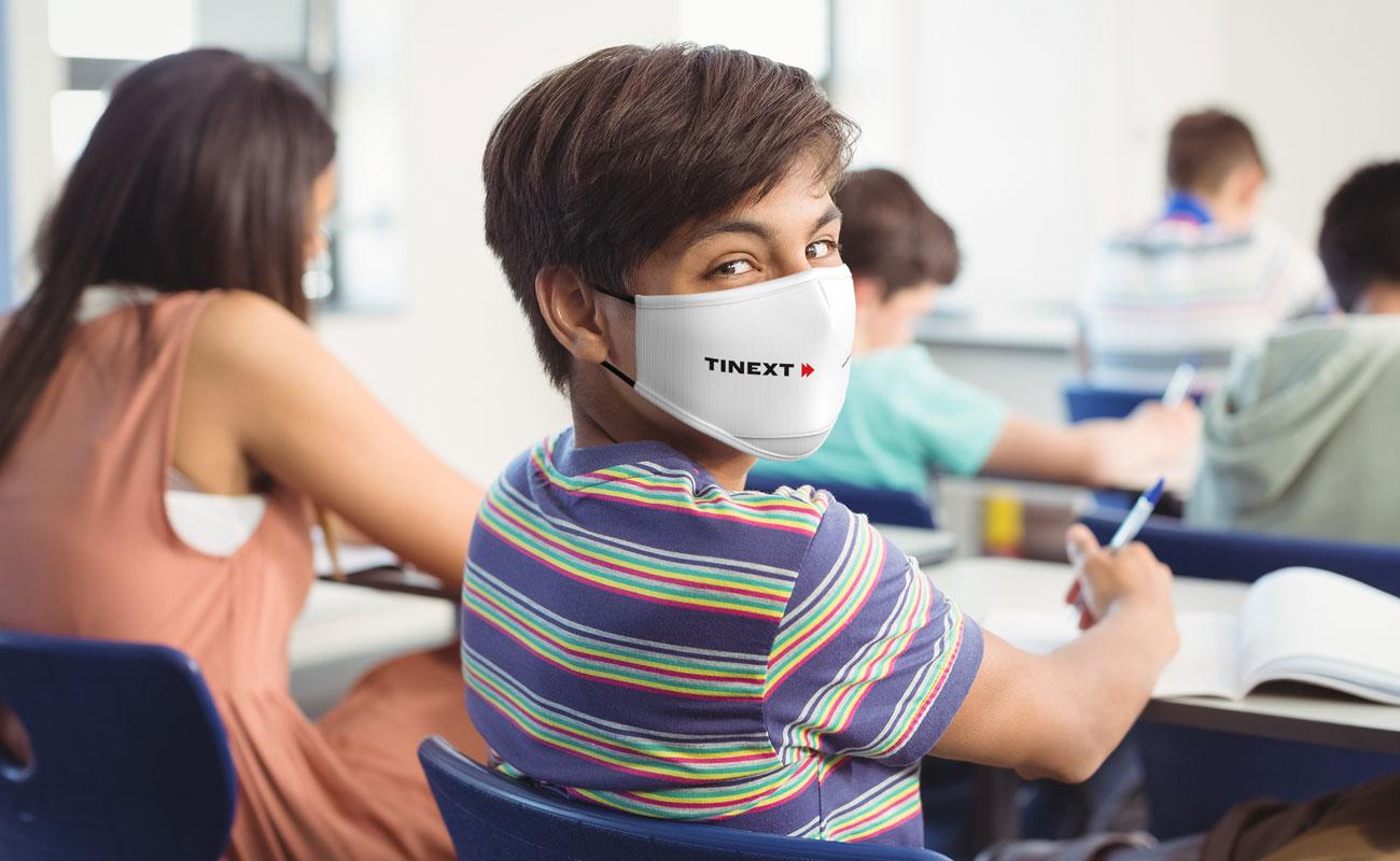 Junior - Znakowane maski na twarz do wielokrotnego użytku