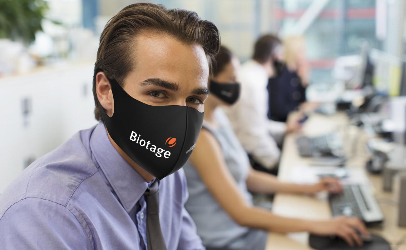 Neo - Znakowane maski na twarz do wielokrotnego użytku