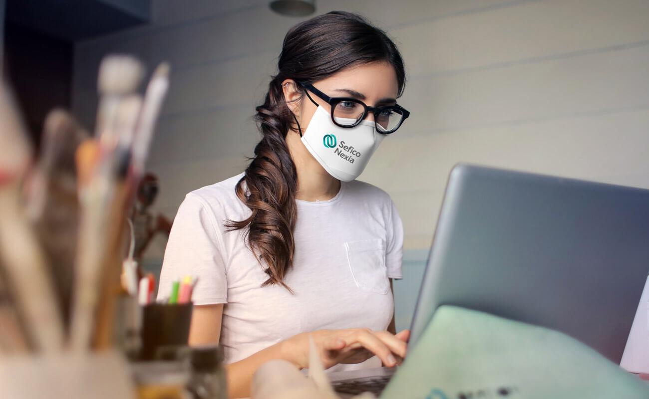 Sky - Znakowane maski ochronne na twarz