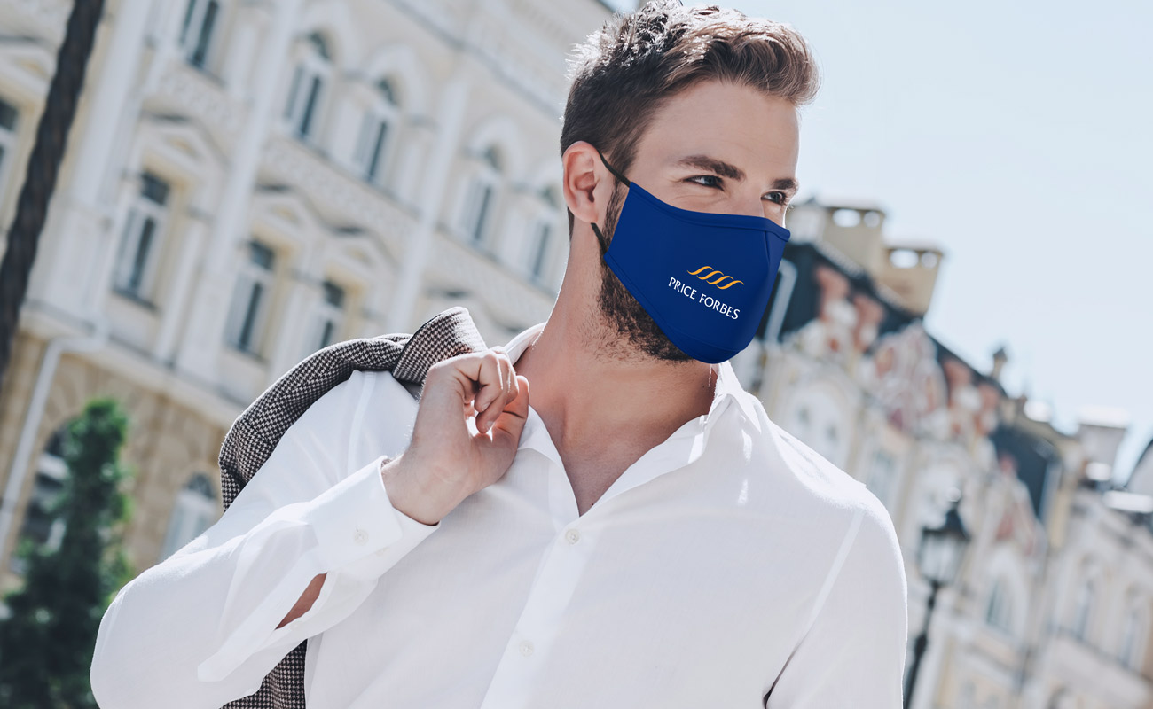 Sky - Znakowane maski na twarz do wielokrotnego użytku