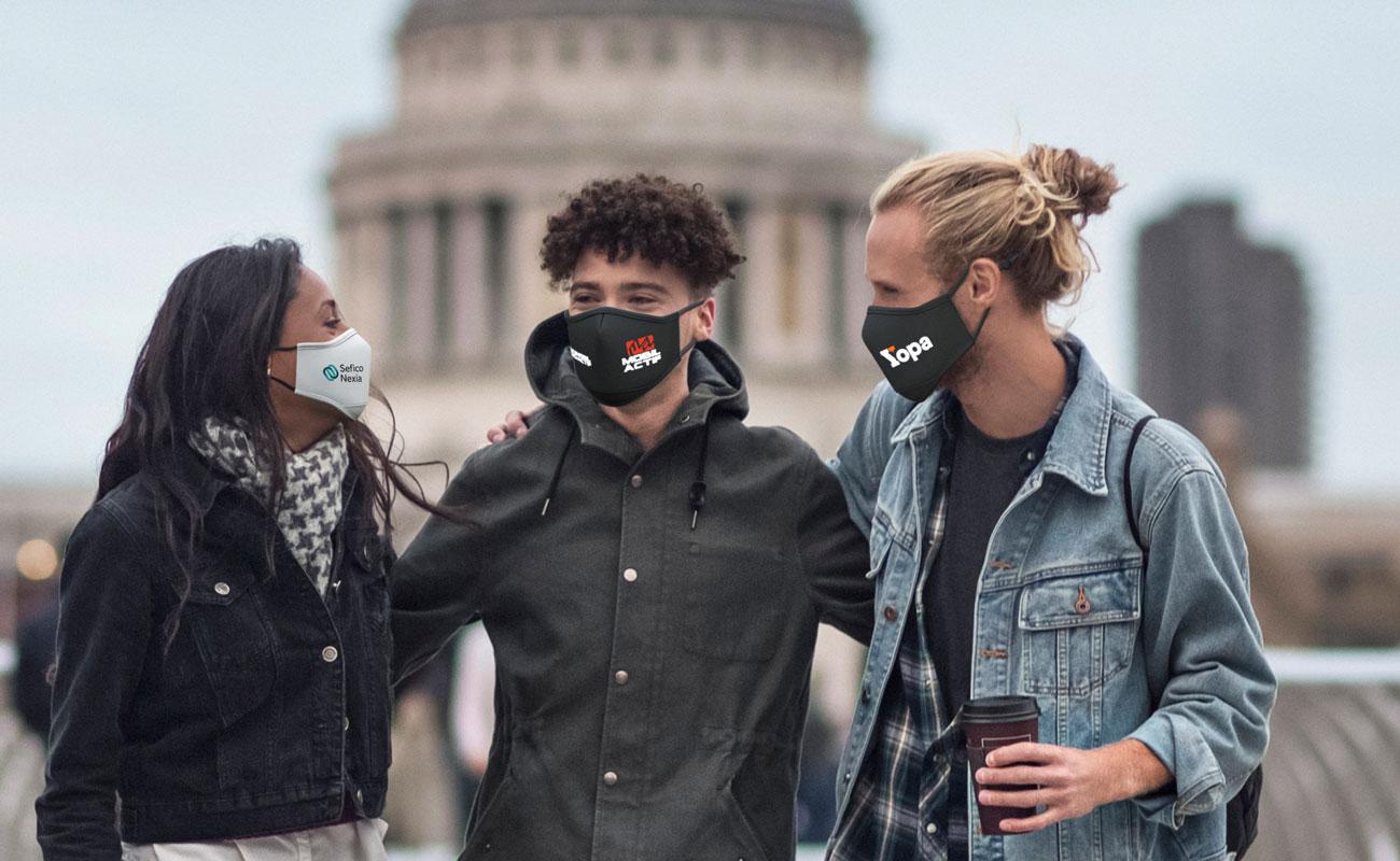 Sky iON - Znakowane maski na twarz do wielokrotnego użytku